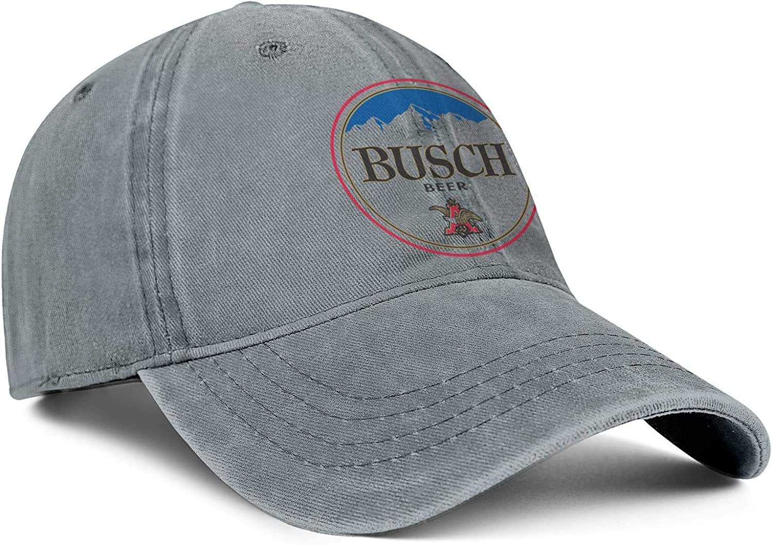 Cap Printed Cowboy Hats Athletic Caps Denim CAEEKER Mens Womens Busch-Beer-Sign