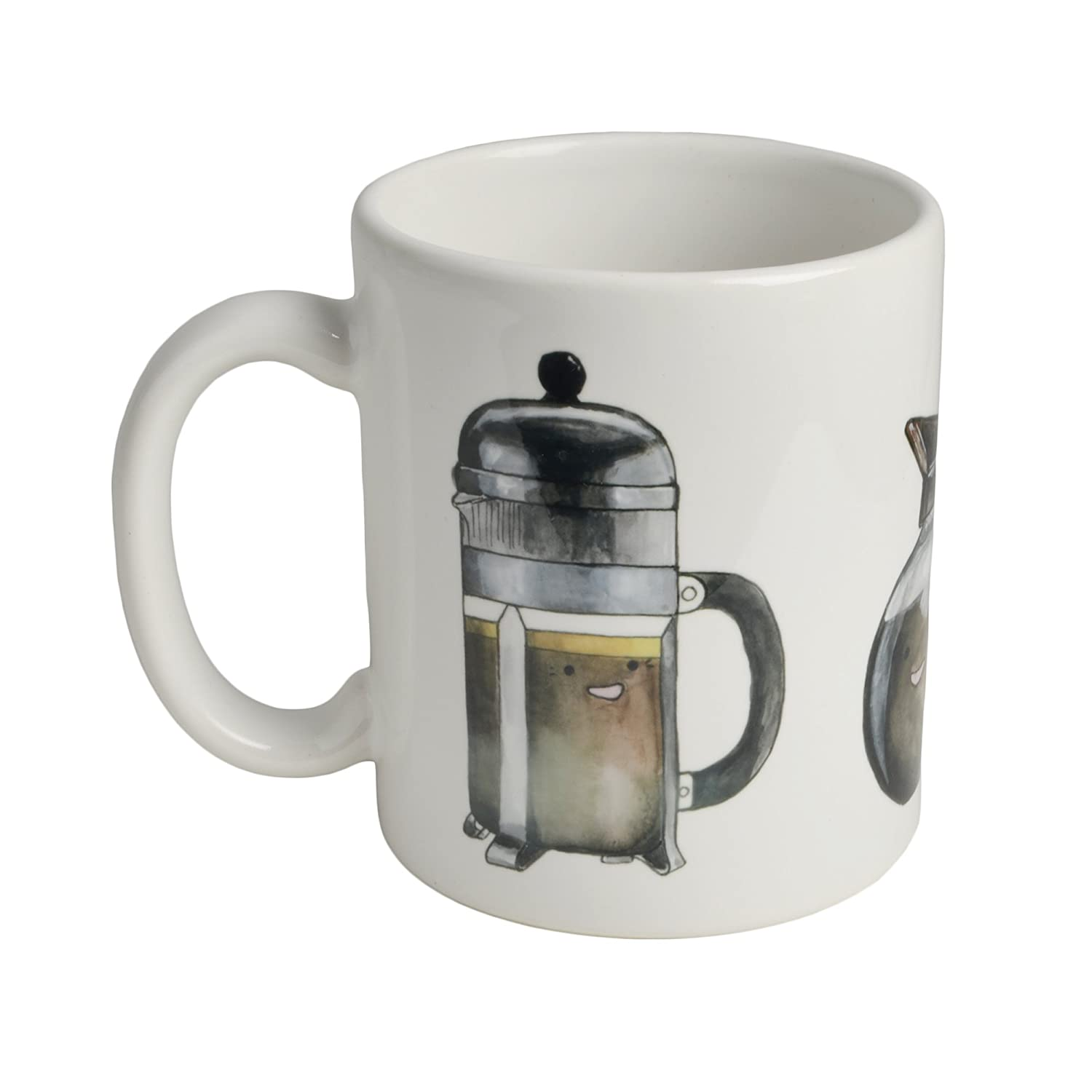 Cats in Pants Smiling Coffee Pots Mug, Made in the USA