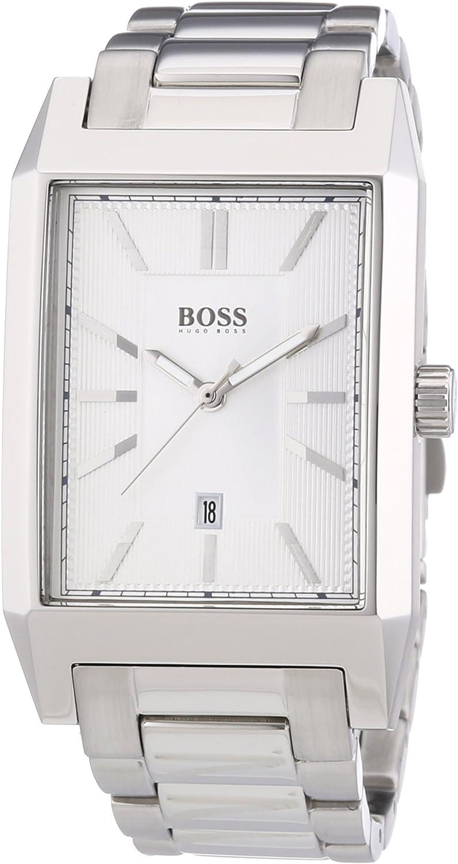 Hugo Boss 1512918 - Reloj de Cuarzo para Hombre, con Correa de Acero Inoxidable, Color Plateado