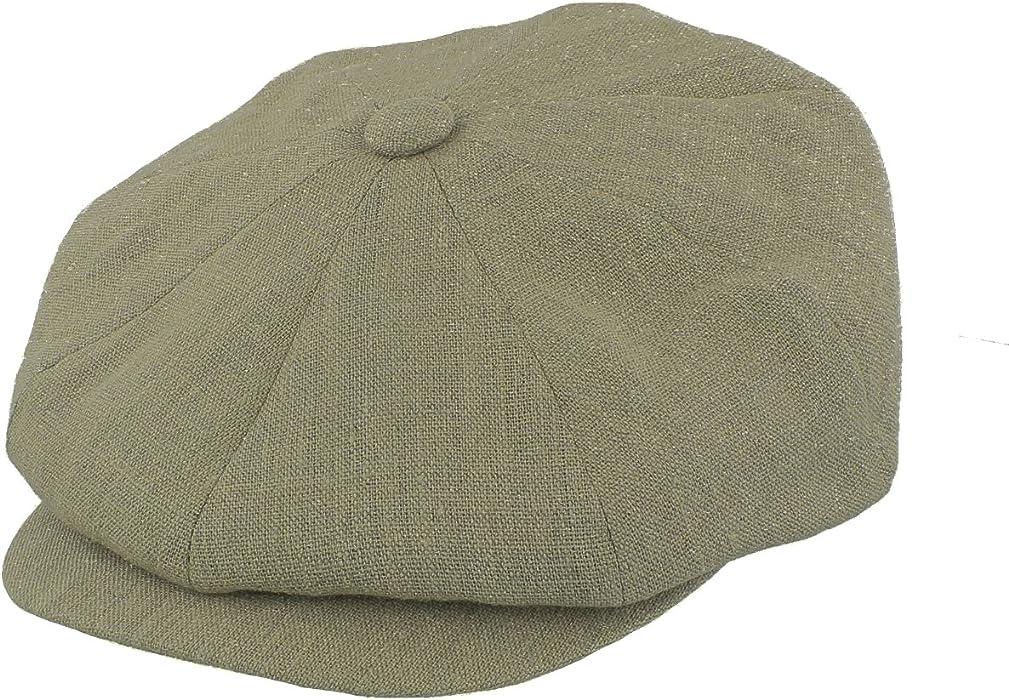 50dbce33 Failsworth 100% Irish Linen Alfie Bakerboy Cap (Small 55cm, Khaki):  Amazon.co.uk: Clothing