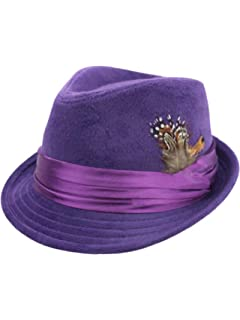 6ffd6e81b13e3 Women s Wool Fedora Hat with Leather Belt Trim and English Country ...