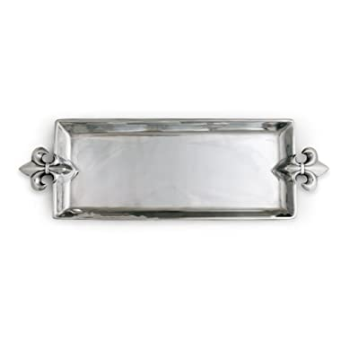 Arthur Court Designs Aluminum 21  x 7  French Lily Oblong Tray