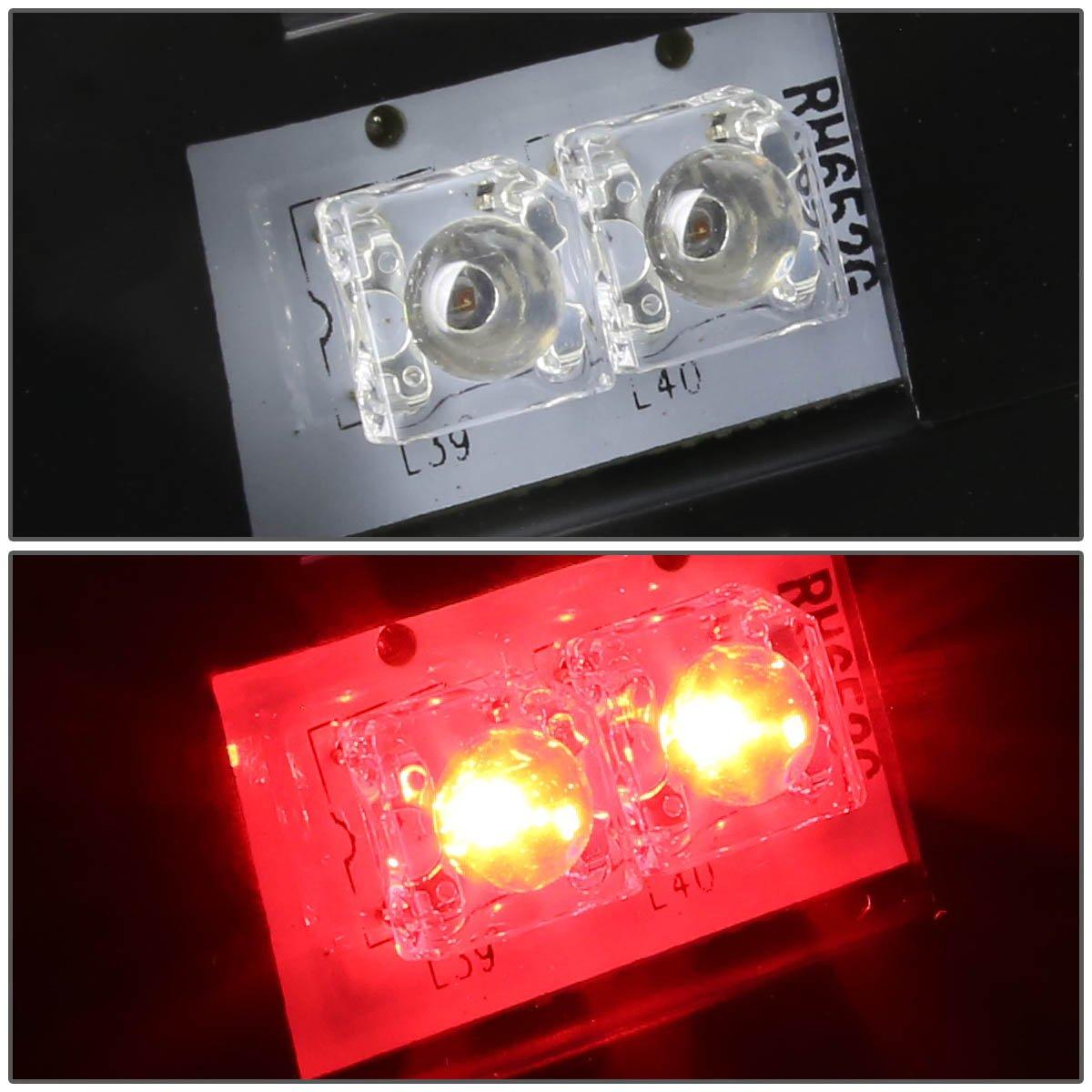 Driver and Passenger Side DNA Motoring TL-CSIL03-LED-3D-BK-CL Tail Brake Lights