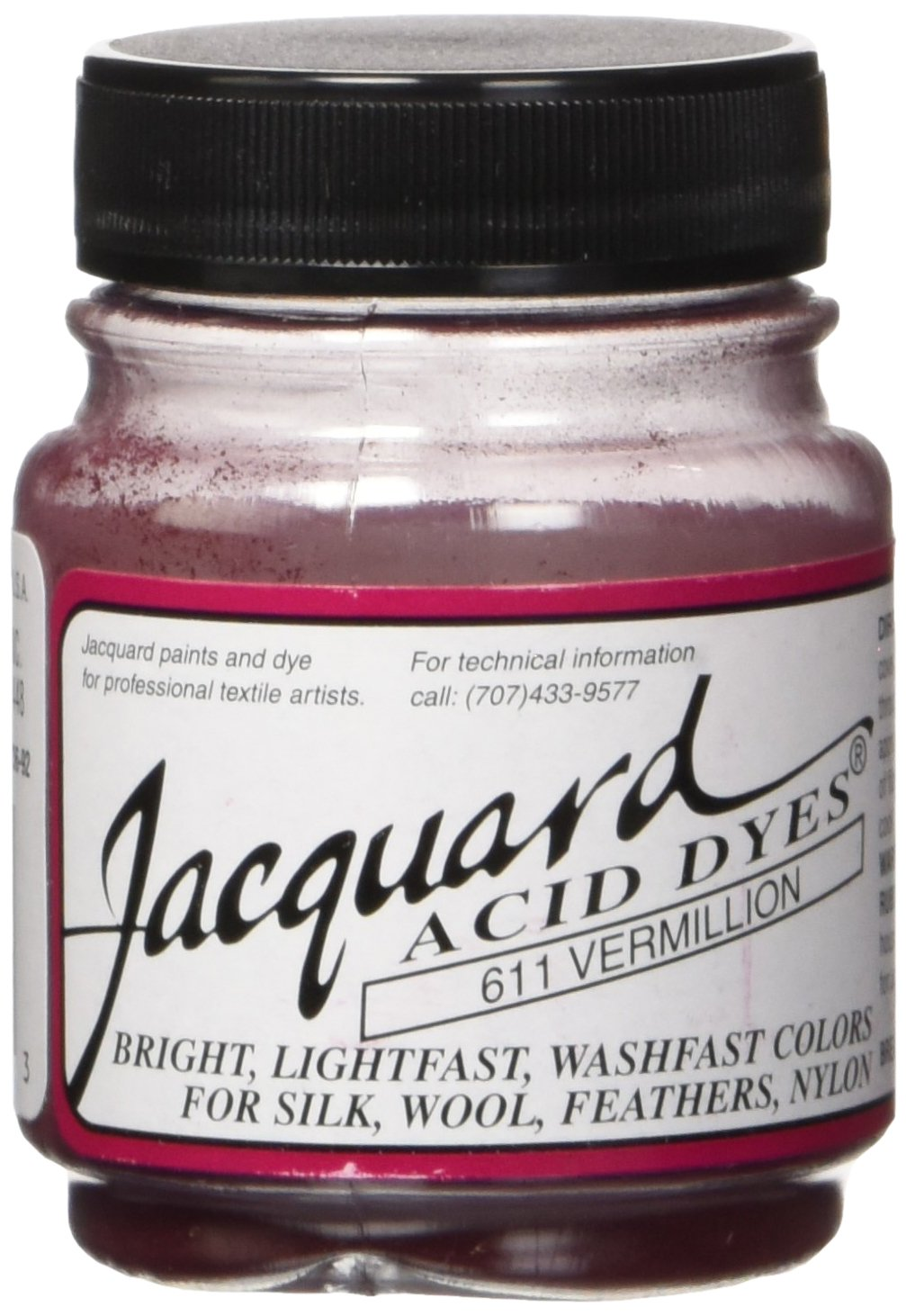 Jacquard Products JAC-620 Sewing Acid Dyes 1/2 Ounce-Hot Fuchsia 102841
