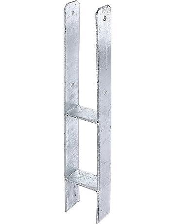 Strebenplatte 34 mm f Zaunpfosten Strebenhalter Einschlaghülse Zaunpfahl Draht