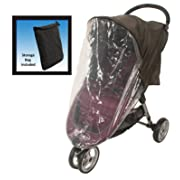 Comfy Baby! Universal Stroller Weather Shield - Fits all Full Size & Jogging Strollers - Black Cover