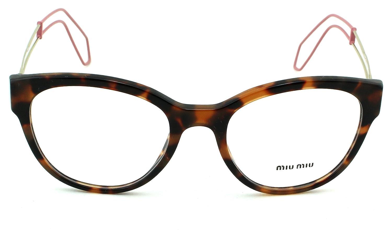 Amazon.com: Miu Miu 03PV Women Round Eyeglasses (Dark Havana Frame ...
