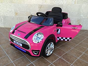 Mini Style 12v Electrico Coche Luxe Pekecars Pink rCtdxhsQ