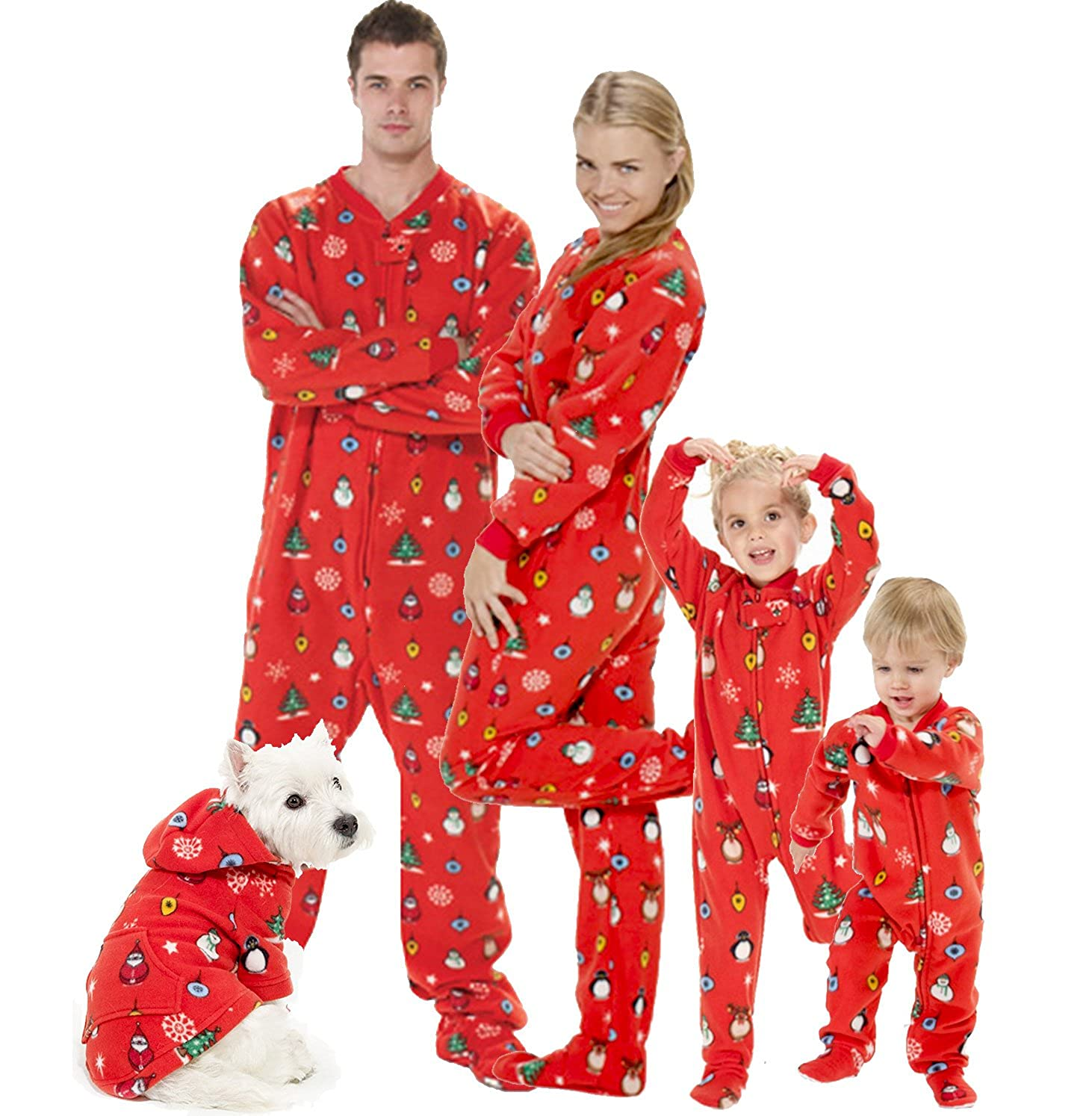 Christmas Pajamas Photoshoot.Footed Pajamas Family Matching Red Christmas Onesies For Boys Girls Men Women And Pets