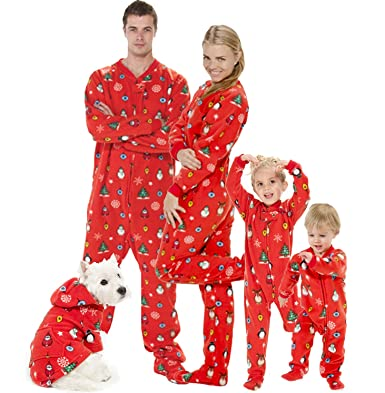 Amazon.com  Footed Pajamas - Family Matching Red Christmas Onesies for  Boys 5ddccdfb5
