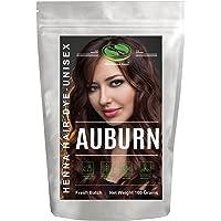 1 Pack Auburn Henna Hair & Beard Color/Dye 100 Grams - Chemicals Free Hair Color - The Henna Guys