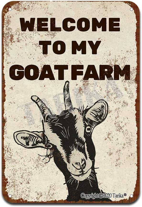 Welcome to My Goat Farm Iron Poster Painting Tin Sign Vintage Wall Decor for Cafe Bar Pub Home Beer Decoration Crafts
