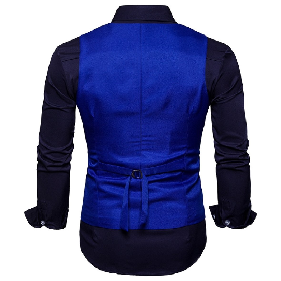 Sankt Mens Stylish Double-Breasted Business Separate Vest for Suit