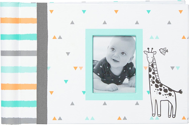 4-Inch X 6-Inch Multicolor Malden Hello Baby Photo Album Holds 40 Photos