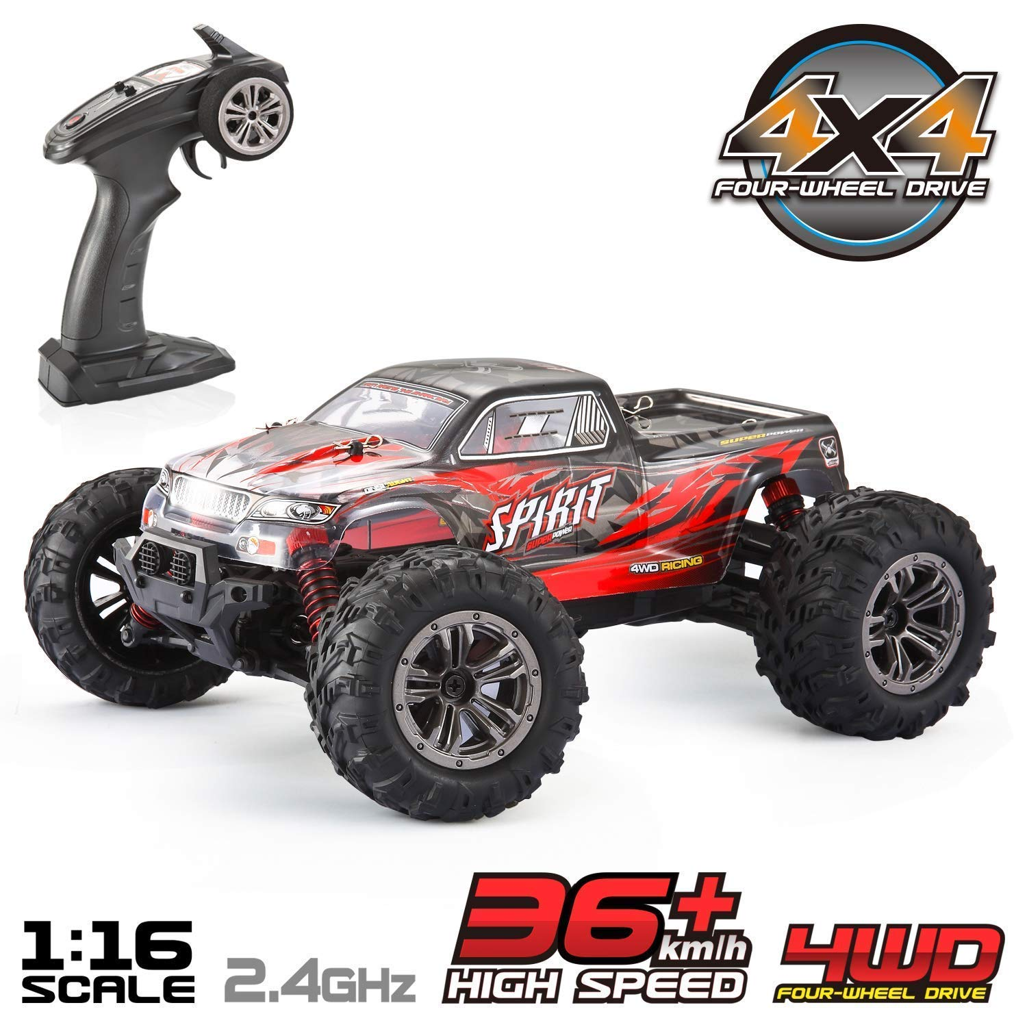 VATOS Remote Control Car High Speed Off-Road Vehicle 1:16 Scale 36km/h 4WD 2.4GHz Electric Racing Car RC Buggy Vehicle Truck Buggy Crawler Toy Car for Adults and Kids by VATOS (Image #1)