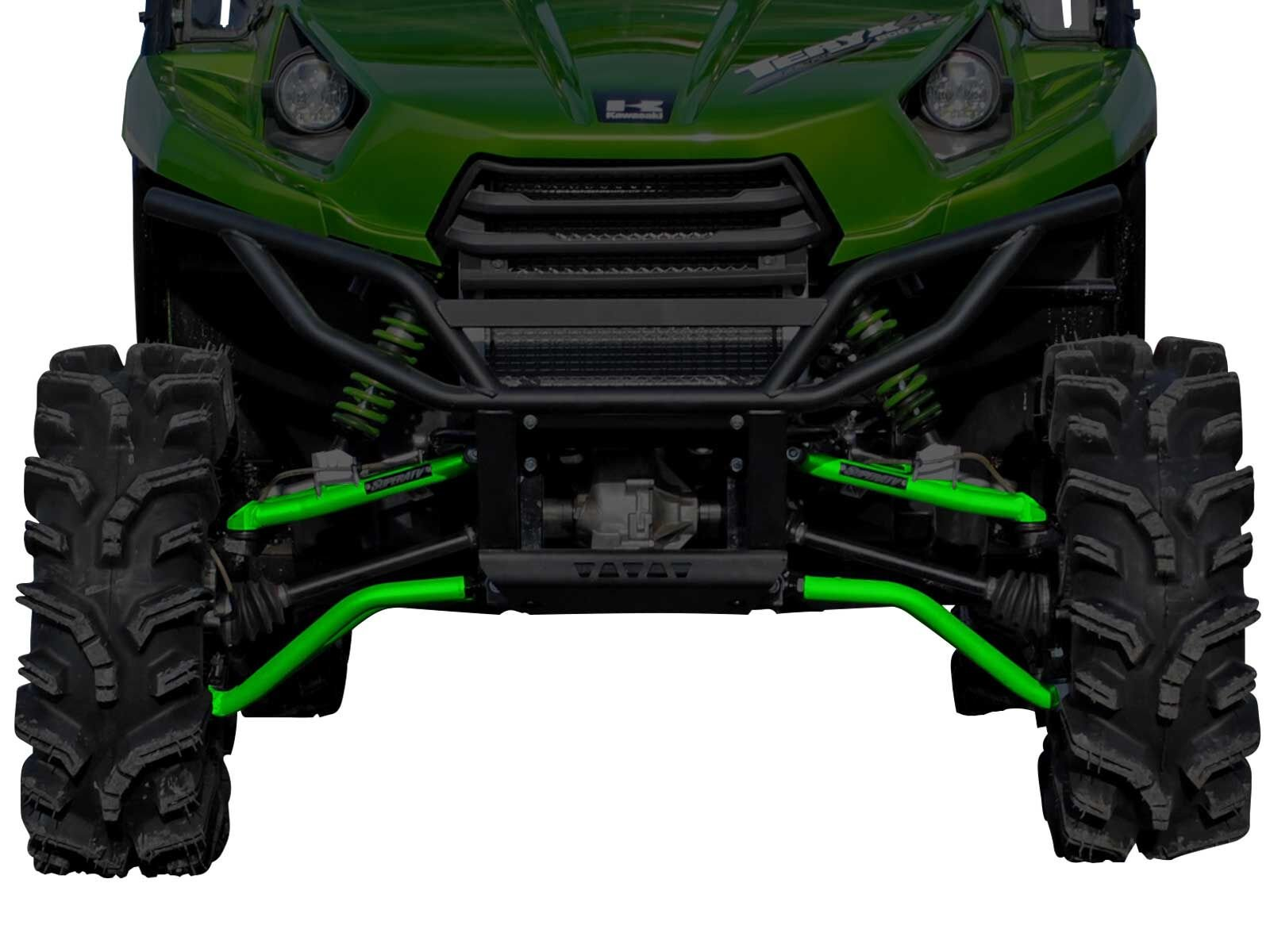 SuperATV High Clearance Forward Offset Front A-Arms for Kawasaki Teryx/Teryx 4 (See Fitment) - Green by SuperATV.com (Image #1)