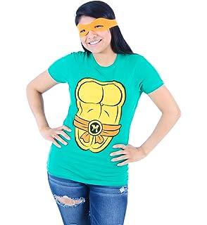 ba6a8b21485 TMNT Teenage Mutant Ninja Turtles Juniors Costume Green T-shirt with Eye  Mask