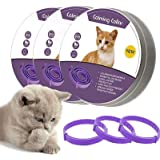 Lopnord Calming Collar for Cats, Adjustable Reduce Relieve Anxiety Pheromone Keep Pet Lasting Natural Calm, Safe and Waterpro