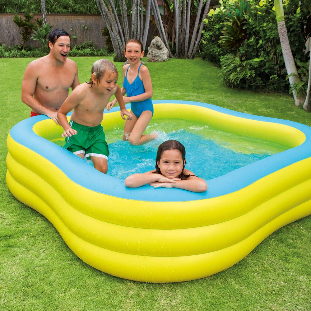 Intex - Piscina hinchable cuadrada 229x56 cm - 1.215 litros - 57495NP (modelo variable según imagen): Amazon.es: Jardín