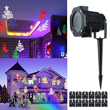 Lights & Lighting Stage Lighting Effect Rgb 20 Patterns Christmas Lights Outdoor Laser Projector Garden Landscape Festival Lamps Waterproof Ip65
