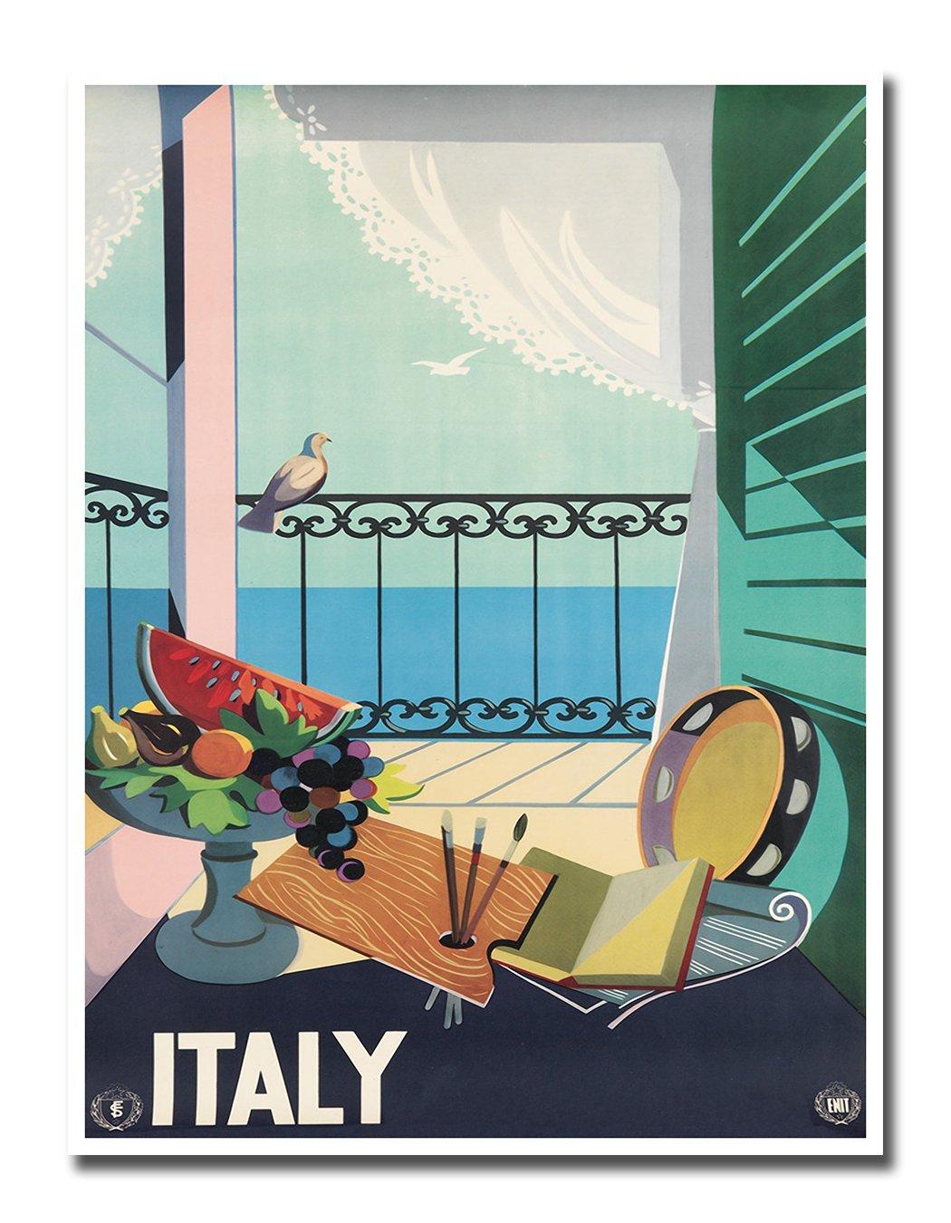 Amazon.com: Italy Poster Vintage Travel Art Retro Print Italian ...