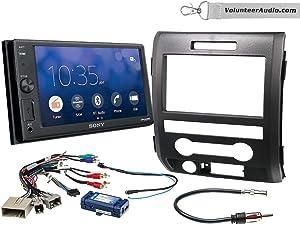 Sony XAV-V10BT Double Din Radio Install Kit With Sirius XM Ready Fits 2009-2014 F-150