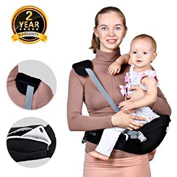 Baby Hip Seat Carrier Waist Stool Safety Certified Back Pain Relief Soft Carrier Ergonomic M Position