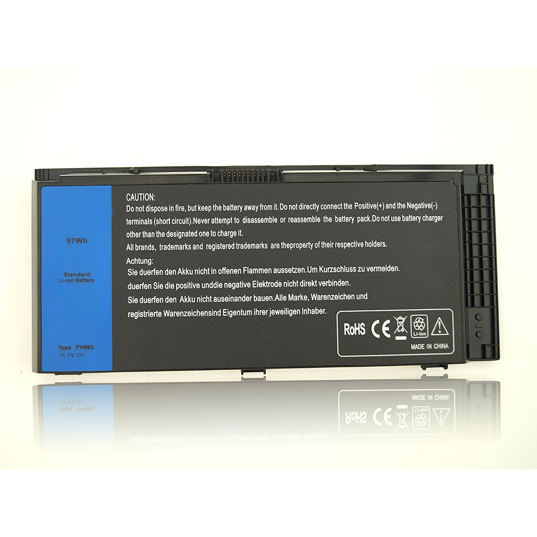 New 11.1V 97Wh M6700 M6600 KJ321 Battery for Dell Precision M4600 M4800 M6800 Series Fits FV993 FJJ4W PG6RC V7M28 Laptop----SOLICE