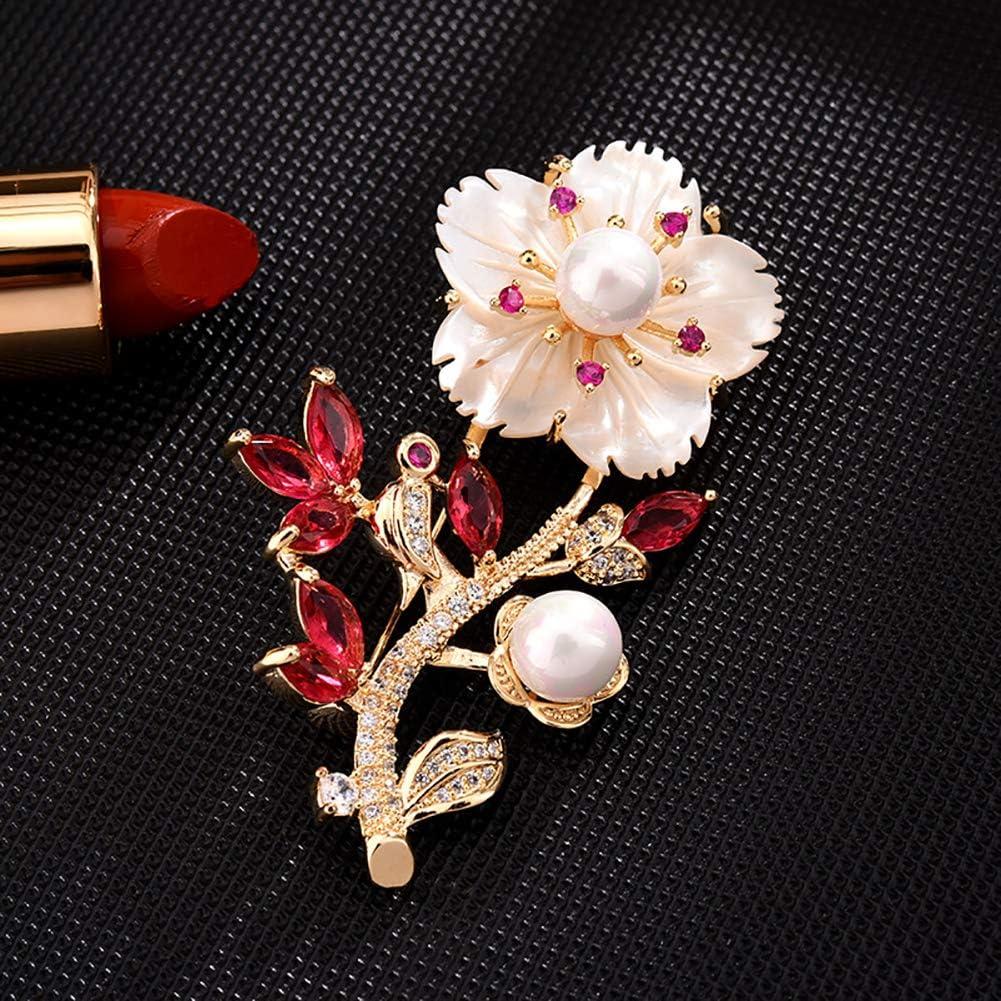 Anniversaire Cadeau F/ête Acces Broche Femmes Alliage Fleur Perle Diamant Cristal Broche V/êtements Accessoires Broche Pour Femmes Pour Occasion Magnifique Ou Occasionnelle Graduation Mariage Banquet