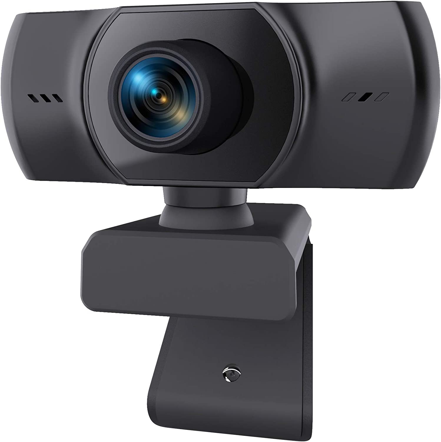 1080P Webcam with Microphone, HANRICO HD Streaming Web Camera, Compatible with Mac Laptop PC Computer, Plug and Play, Noise Reduction, Wide Angle USB Camera for Zoom/Skype/YouTube, Conferencing/Games