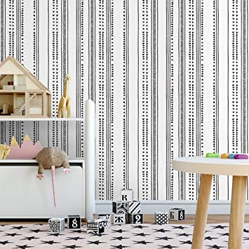 Horllm Modern Triangle Arrow Trellis Black White Peel And Stick Wallpaper Removable Self Adhesive 17 71 In X 19 66ft Wallpaper Decorative Wall Covering Vinyl Wallpaper Amazon Co Uk Diy Tools