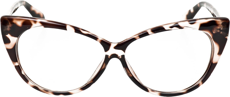 iB-iP Mujer Ojos De Gato Lente Transparentes