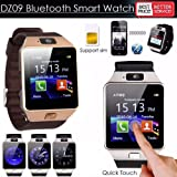 IBS Silver Wrist Bluetooth Call Function Camera Recording Slim Fitness Memory card slot Mini Mobile Watch black Strap Smartwatch