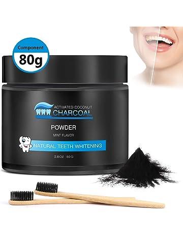 Polvo de Dientes, Aiemok Polvo Blanqueamiento Dental Carbón Activado para Blanqueamiento Dental con Sabor a