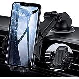 【令和2019最新版】USAMS 車載ホルダー 2in1車載ホルダー スマホホルダー スマホスタンド 強力ゲル吸盤式&エアコン出し口式兼用 iPhone車載ホルダー 取り付け簡単 360度回転可能 伸縮アーム 片手操作 自由調節 4-7インチ 全機種対応 iPhone/Samsung/Sony/LG/Huawei など多機種対応