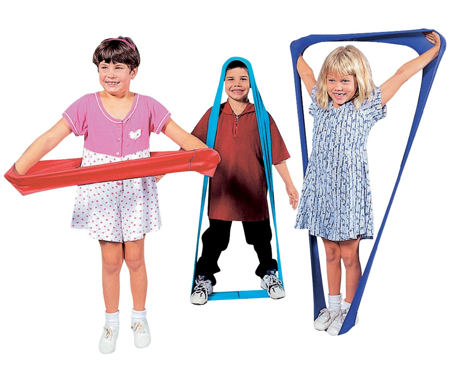 Abilitations Shape Shifters Lycra Stretch Bands with Activity Guide - Set of 6 - Assorted Colors