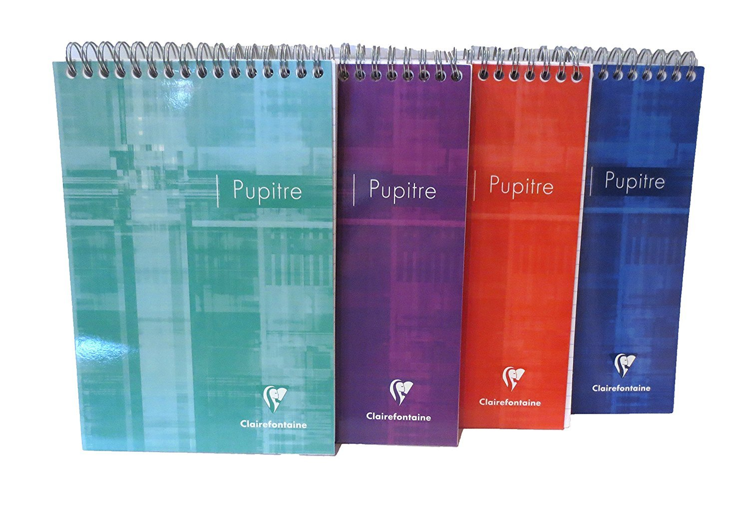 Pack of 3 Clairefontaine Wirebound Notepads (colors may vary) - lined - 5-3/4 in. x 8-1/4 in.