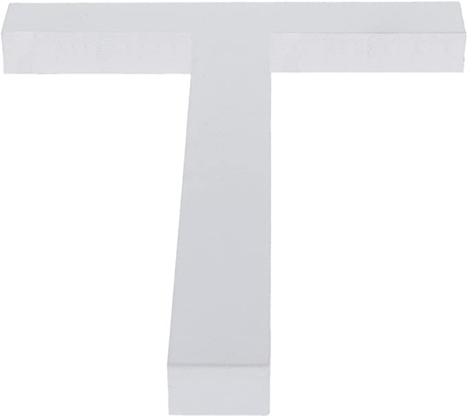 Arial Font White Painted MDF Wood Number 2 Two 6 Inches