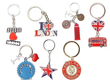 Souvenirs I love London UK en sandalia y guitara con bandera ...