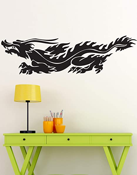 Amazon.com: Chinese Dragon Vinyl Wall Art Decal Sticker. 60in X 17in ...