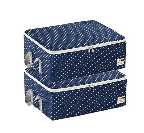 Fuli Caja de Almacenamiento del guardarropa, Cubierta Suave Caja de Acabado del calcetín Dos Piezas