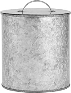Amici Home Newport Storage Canister Metal Can, 156 Fluid Ounces, Galvanized