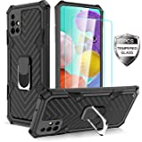 Samsung Galaxy A51 Case with [2 x Tempered Glass Screen Protector] [ Military Grade ] 15Ft. Drop Tested Armor Protective Phon