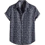ZSBAYU Funky Hawaiian Shirt | Men | M-4XL | Short-Sleeve | Front-Pocket | Hawaiian-Print | Loose Turn Down Collar Shirt