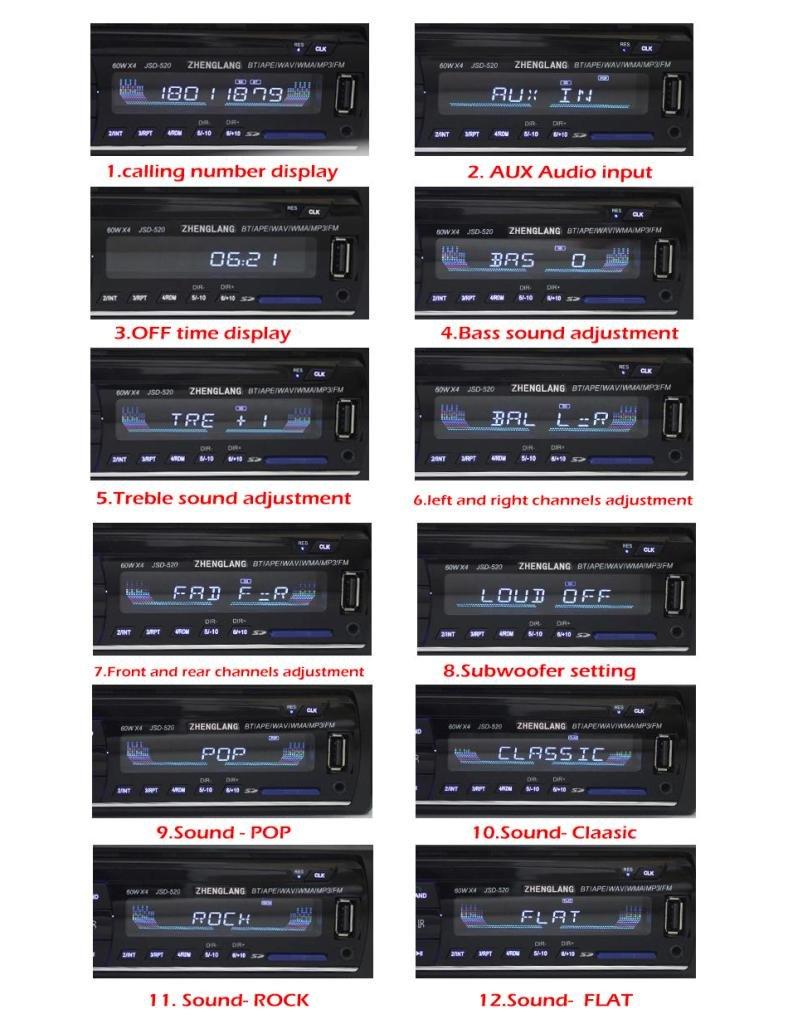 Masione® Bluetooth MP3 Tuner Autoradio Stereo 1: Amazon.de ...