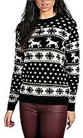 Ladies Reindeers and Snowflake Christmas Jumper UK Size 8-16