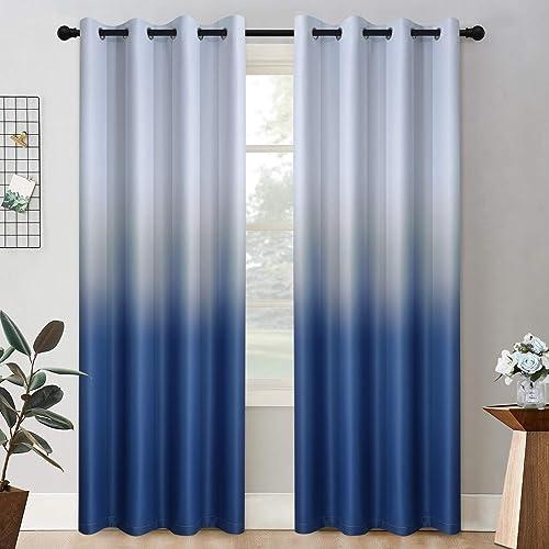 Editors' Choice: COSVIYA Grommet Ombre Room Darkening Curtains 96 inch Long