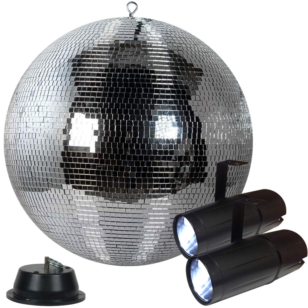 20'' Disco Mirror Ball Pack with 2 LED Pinspots and Motor - Adkins Professional Lighting
