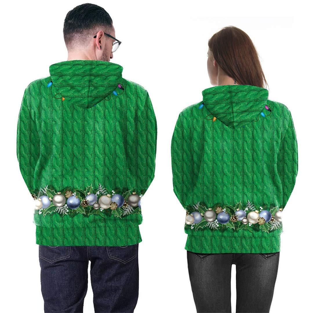 DILLFOREN Autumn Winter Unisex 3D Christmas Harajuku Hip Hop Hooded Sweatshirt at Amazon Mens Clothing store: