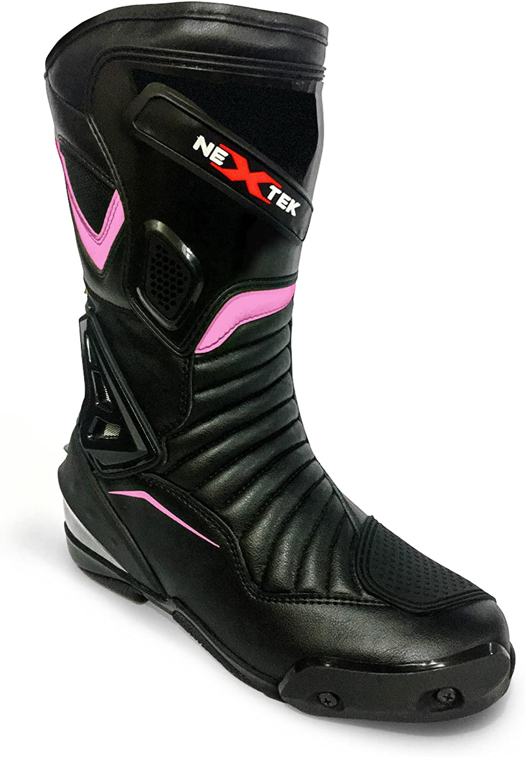 Purple Size 6 PROFIRST Genuine Leather High Long Ankle Motorbike Motorcycle Moped Scooter Boots for Ladies Women Girls